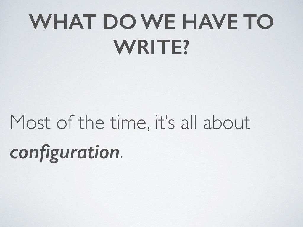 WHAT DO WE HAVE TO WRITE? Most of the time, it'...