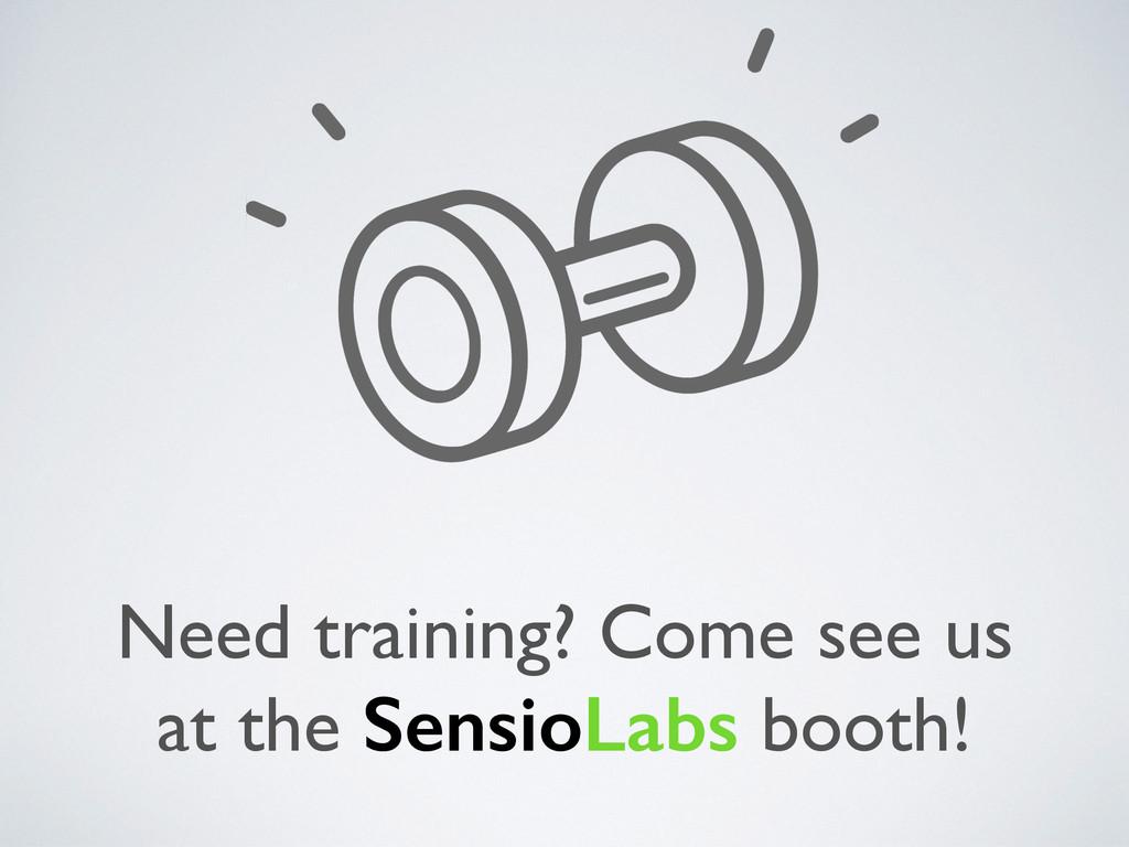 Need training? Come see us at the SensioLabs bo...