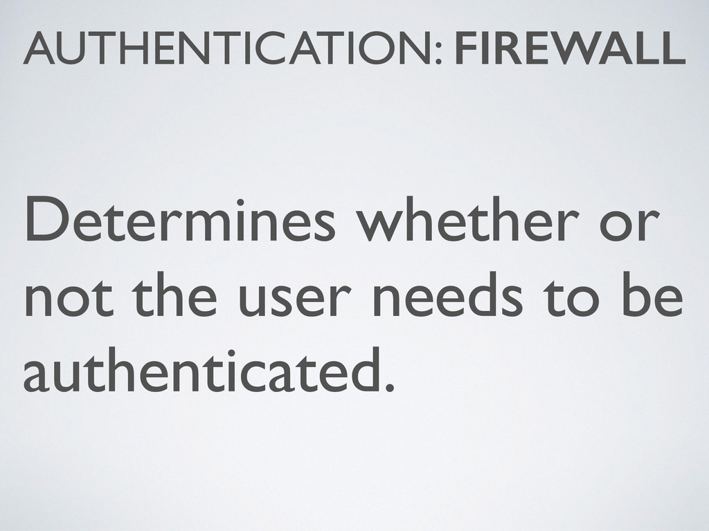 Determines whether or not the user needs to be ...