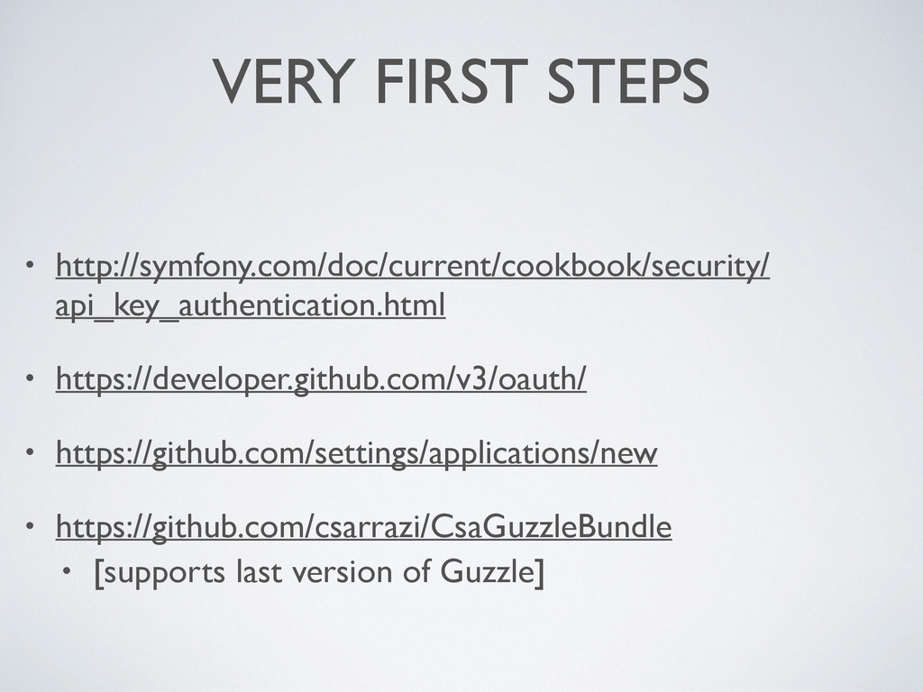 VERY FIRST STEPS • http://symfony.com/doc/curre...