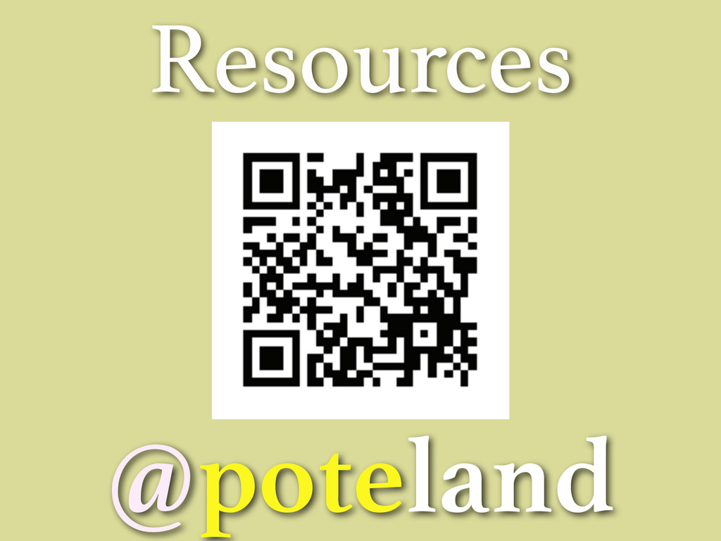 Resources @poteland