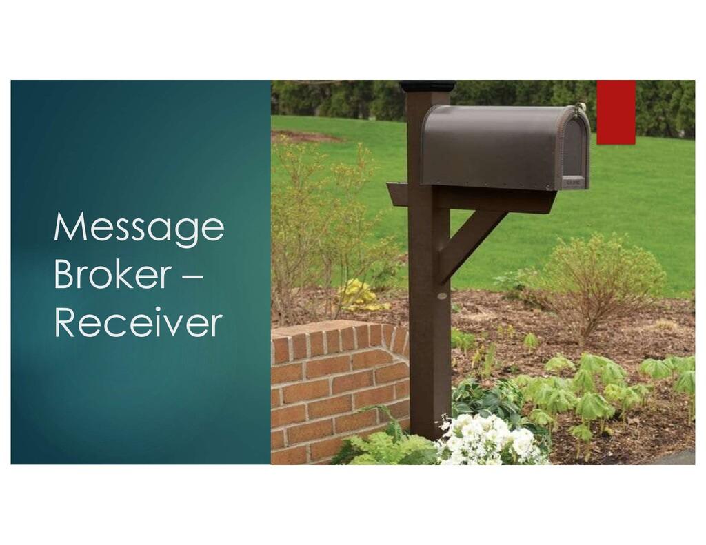 Message Broker – Receiver