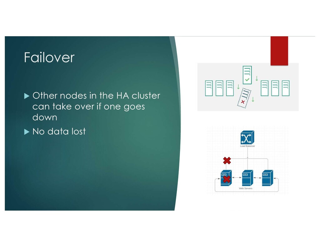 Failover u Other nodes in the HA cluster can ta...