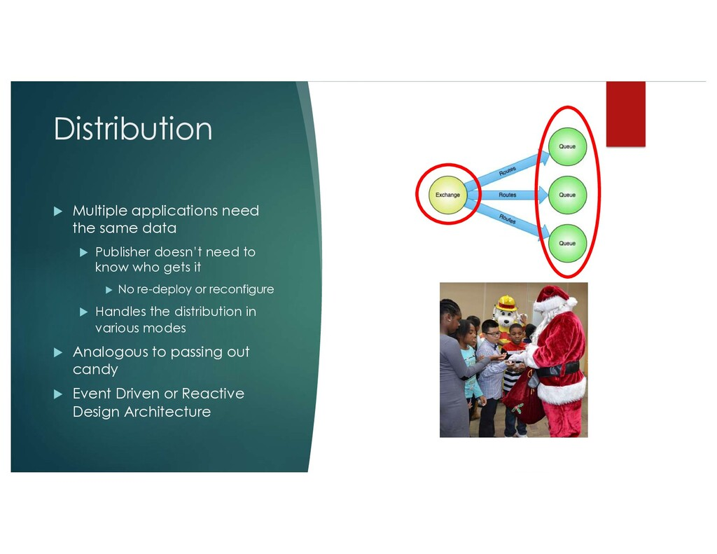 Distribution u Multiple applications need the s...