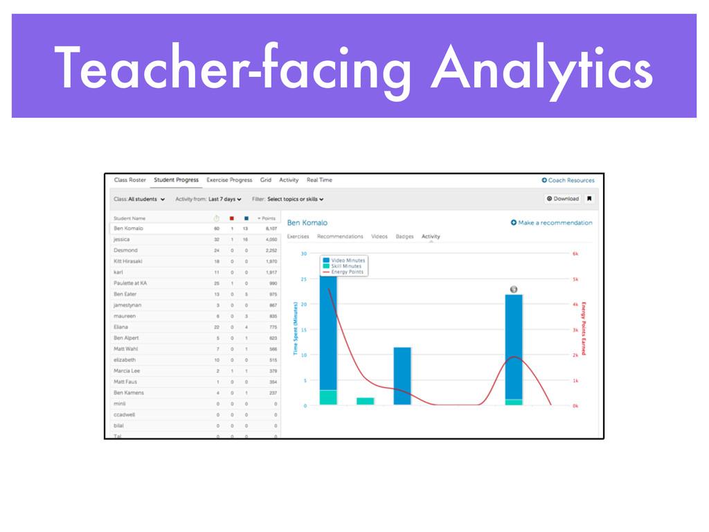 Teacher-facing Analytics