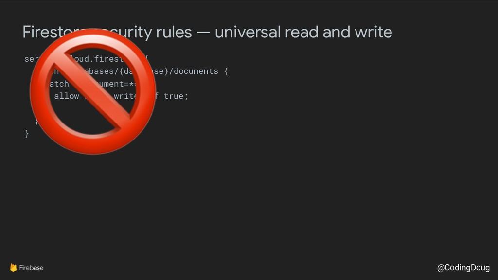 @CodingDoug Firestore security rules — universa...
