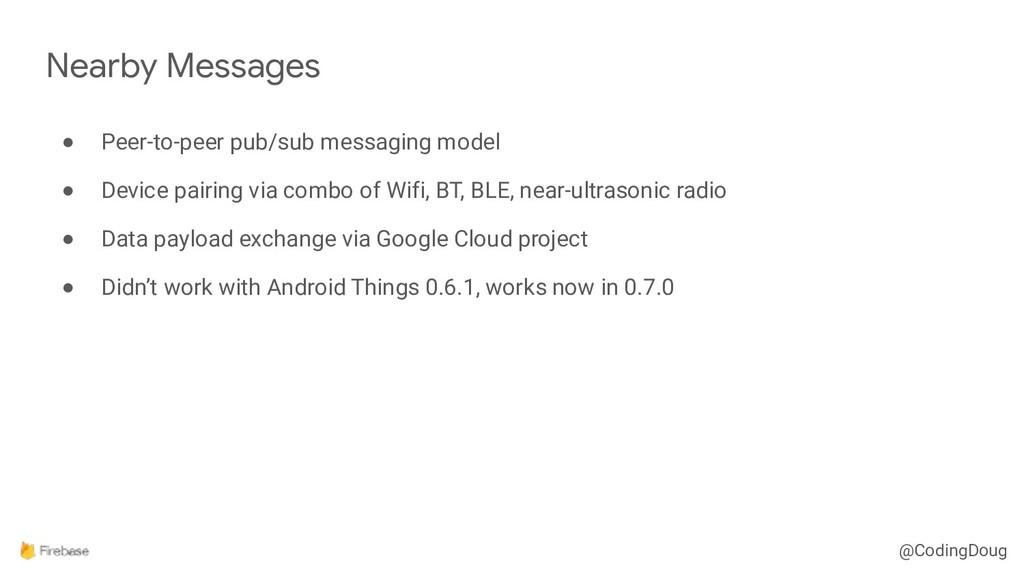 @CodingDoug ● Peer-to-peer pub/sub messaging mo...