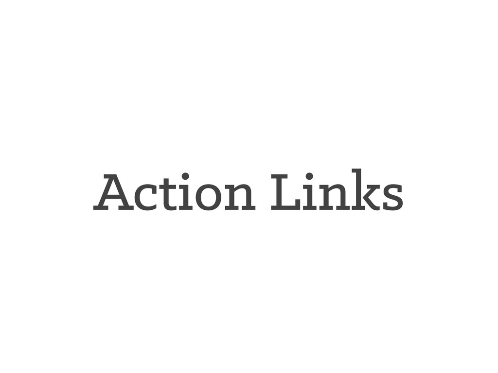 Action Links