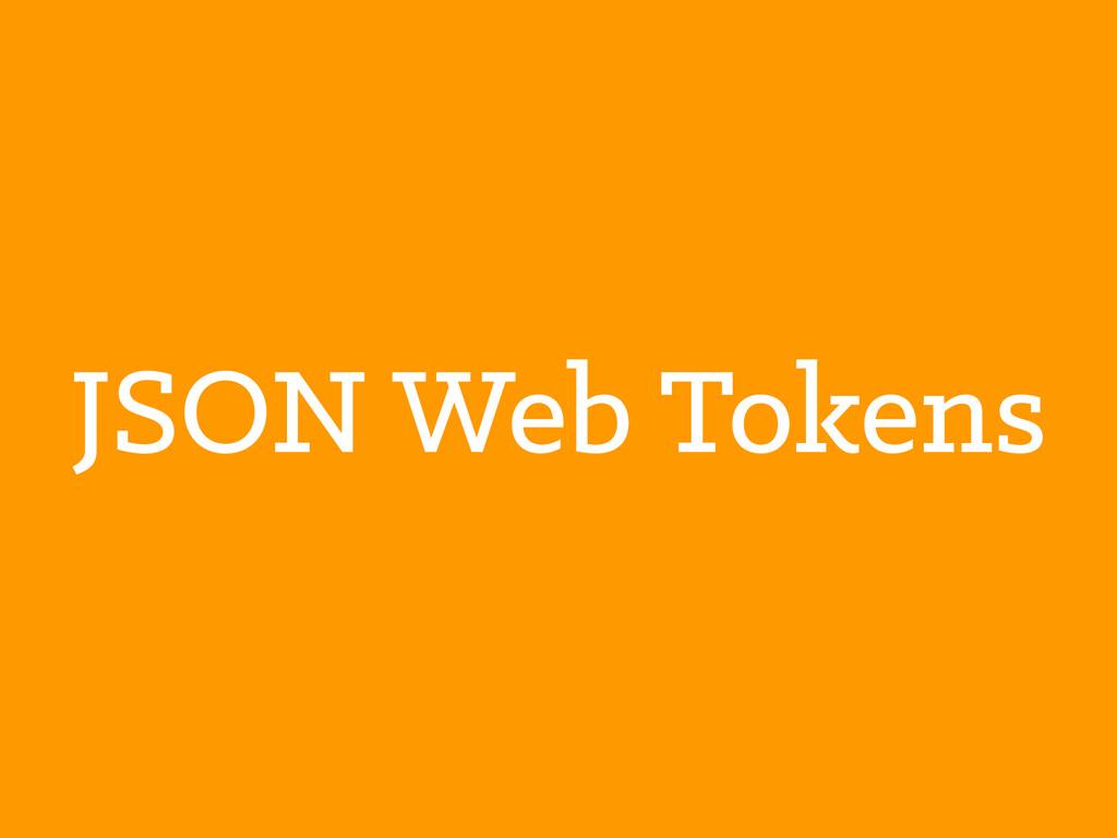 JSON Web Tokens