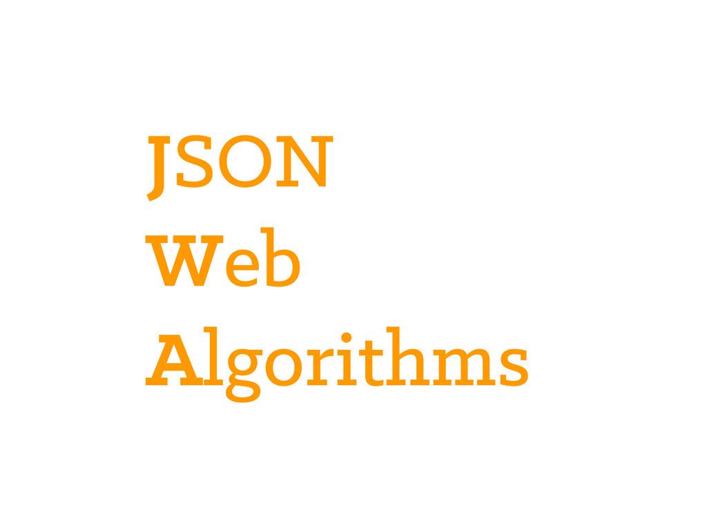 JSON Web Algorithms