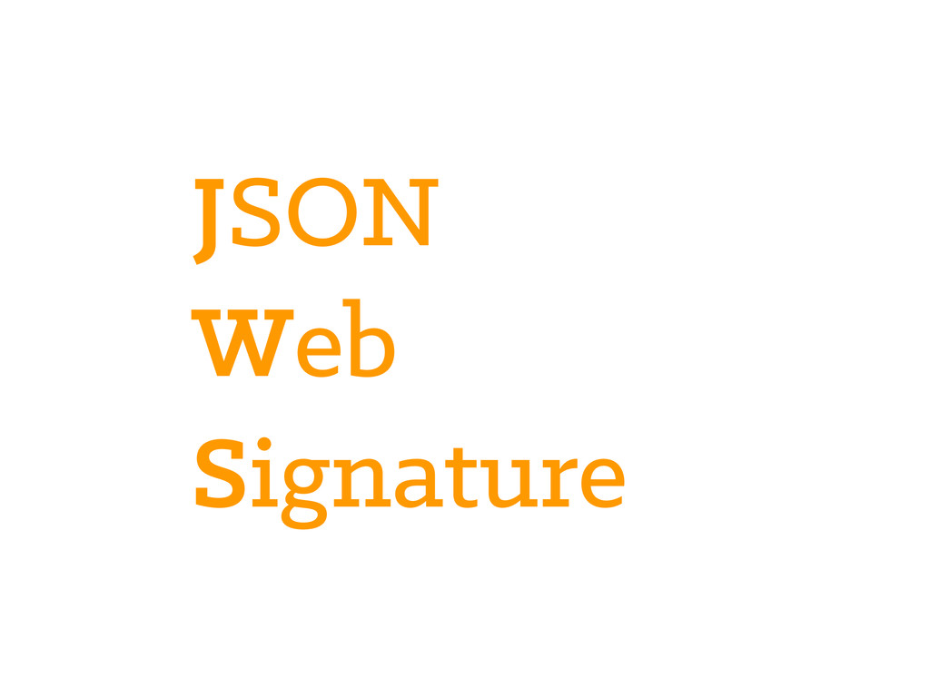 JSON Web Signature
