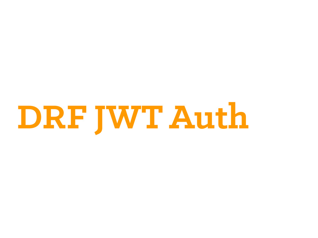 DRF JWT Auth