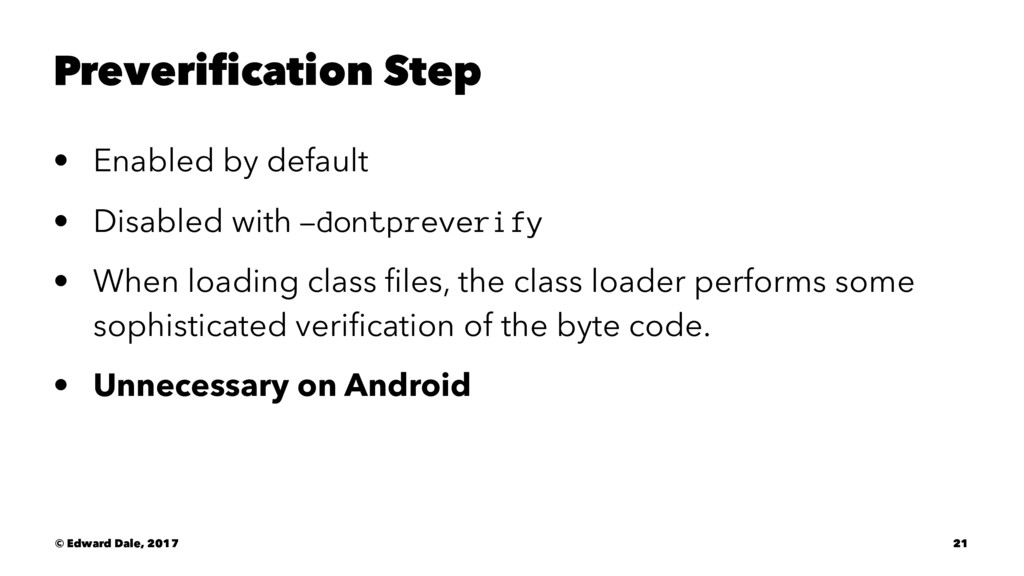 Preverification Step • Enabled by default • Dis...