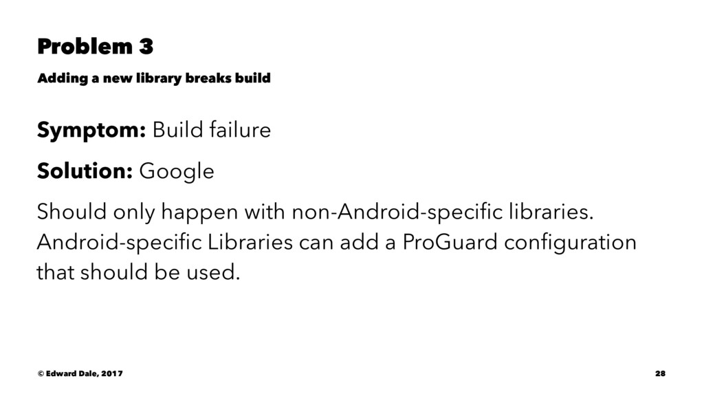 Problem 3 Adding a new library breaks build Sym...