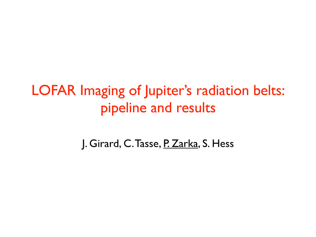 LOFAR Imaging of Jupiter's radiation belts: pip...