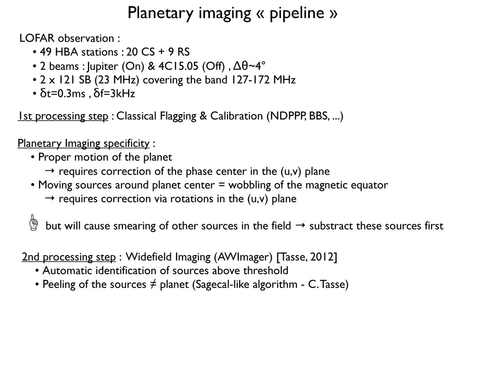 Planetary imaging « pipeline » 1st processing s...