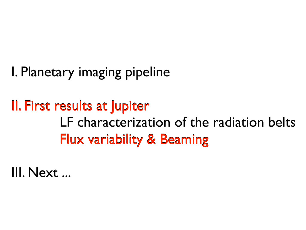 I. Planetary imaging pipeline II. First results...