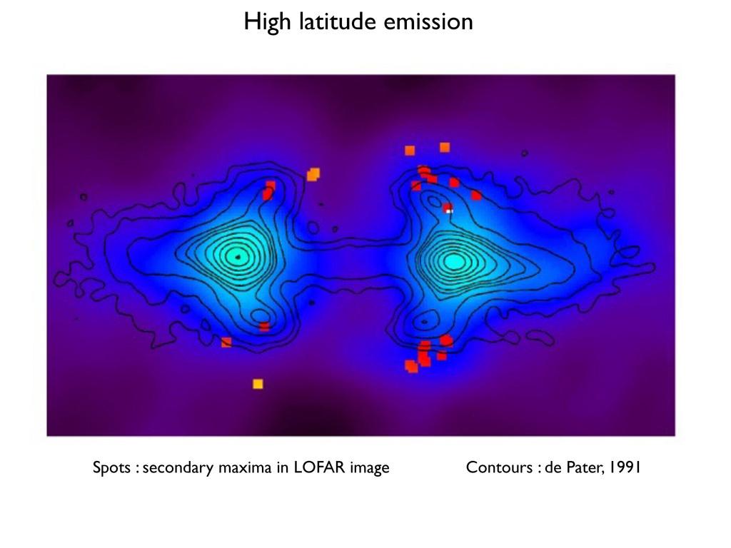 Spots : secondary maxima in LOFAR image Contour...
