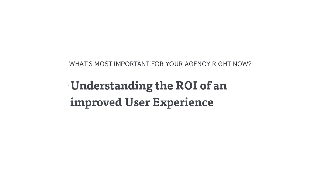‣Understanding the ROI of an improved User Expe...