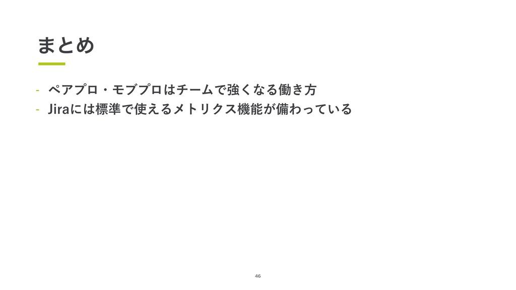 46 ·ͱΊ  ϖΞϓϩɾϞϒϓϩνʔϜͰڧ͘ͳΔಇ͖ํ  +JSBʹඪ४Ͱ͑Δϝ...