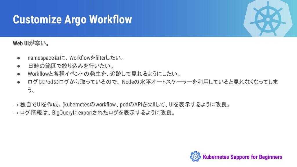 Kubernetes Sapporo for Beginners Customize Argo...