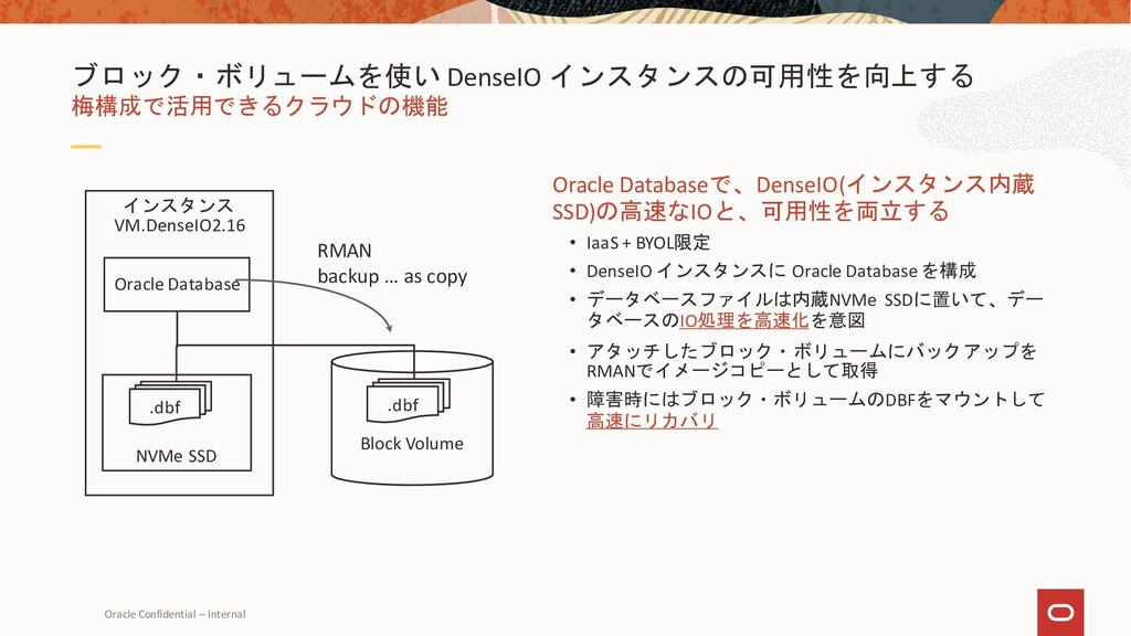 Oracle Confidential – Internal Oracle Databaseで...