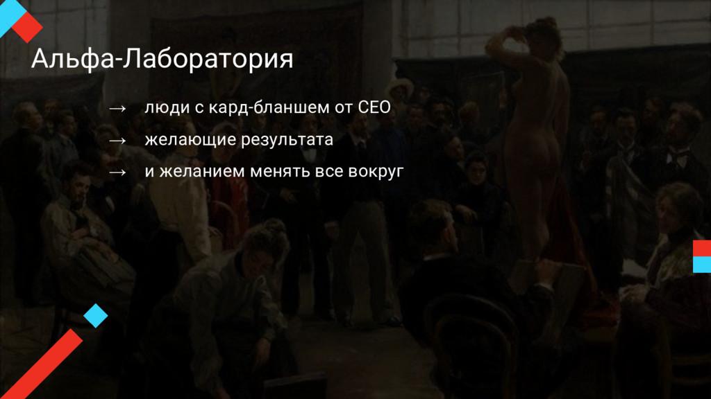 Альфа-Лаборатория → люди с кард-бланшем от CEO ...