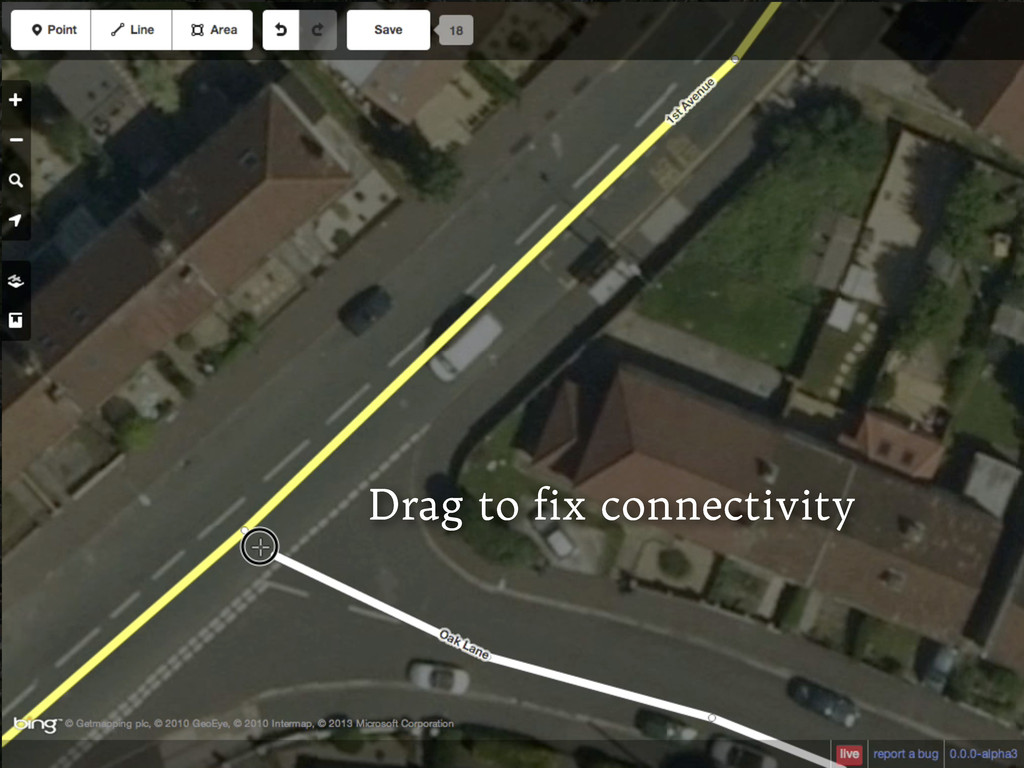 Drag to fix connectivity