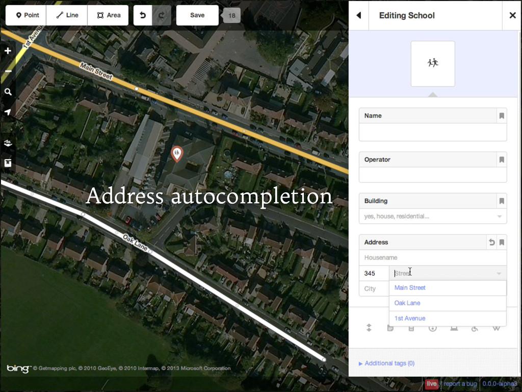 Address autocompletion