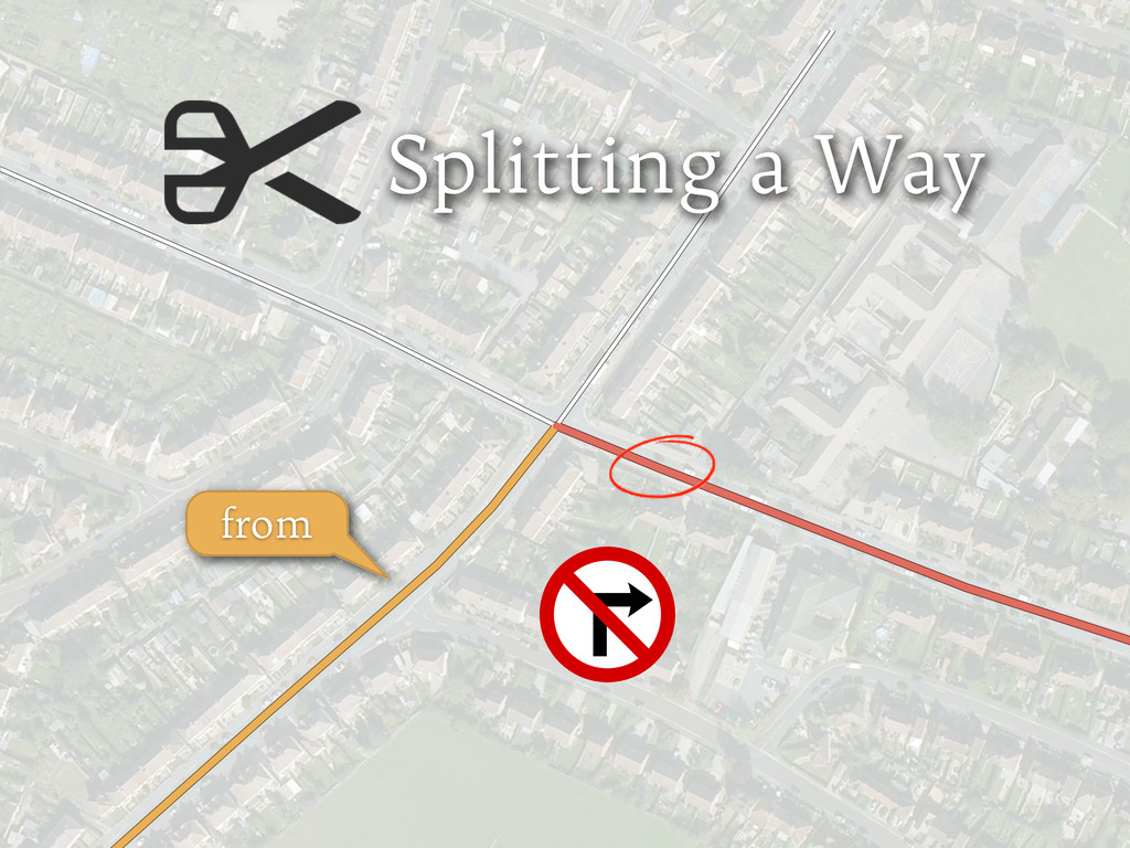 Splitting a Way from