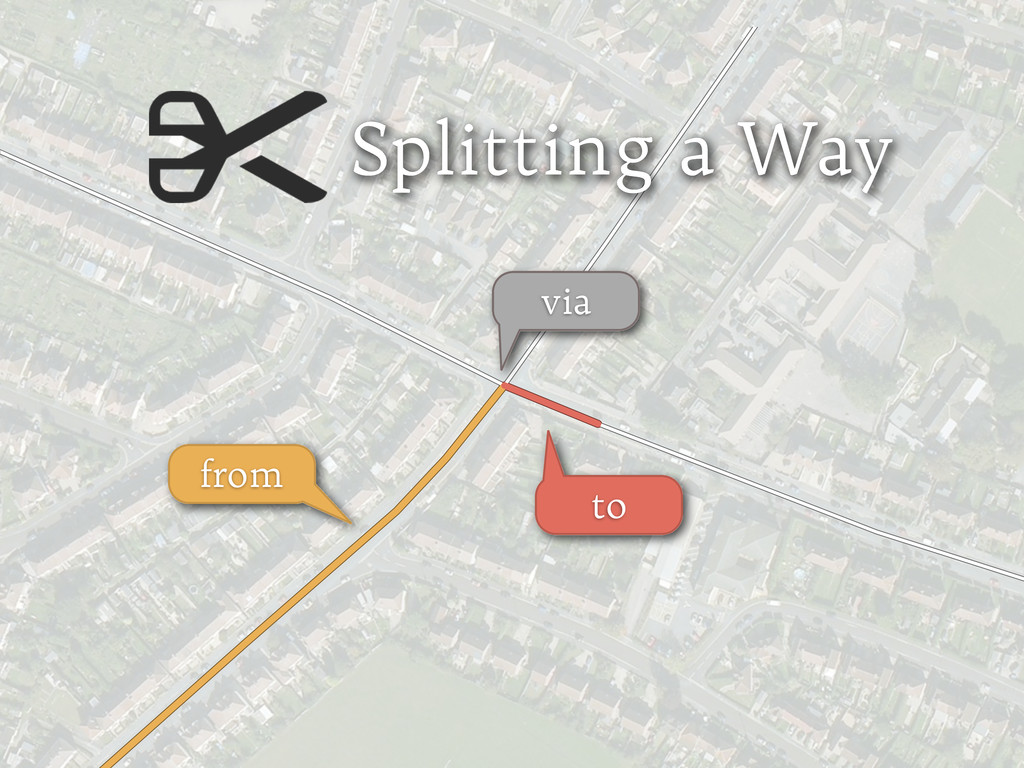 Splitting a Way from via to