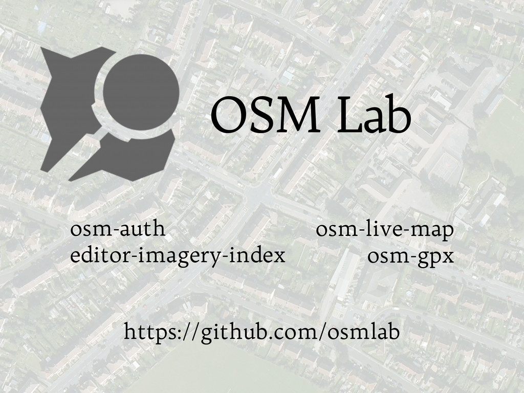 osm-auth editor-imagery-index OSM Lab osm-live-...