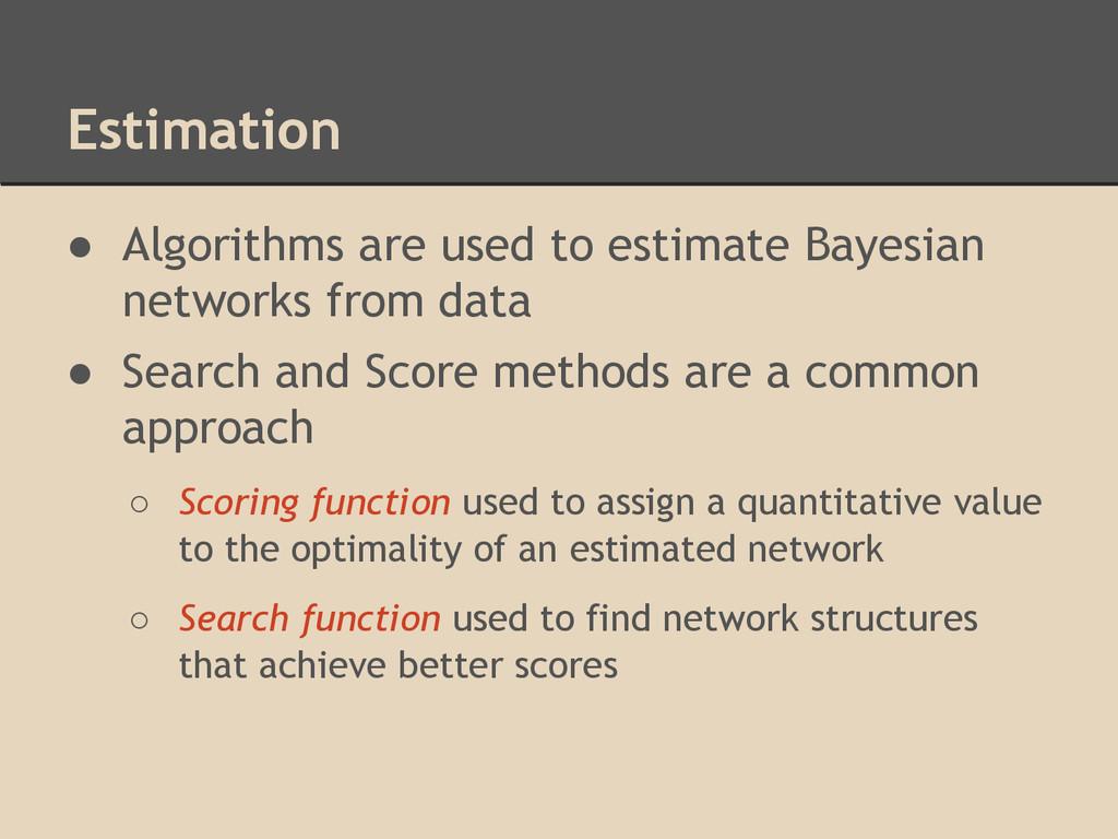 Estimation ● Algorithms are used to estimate Ba...