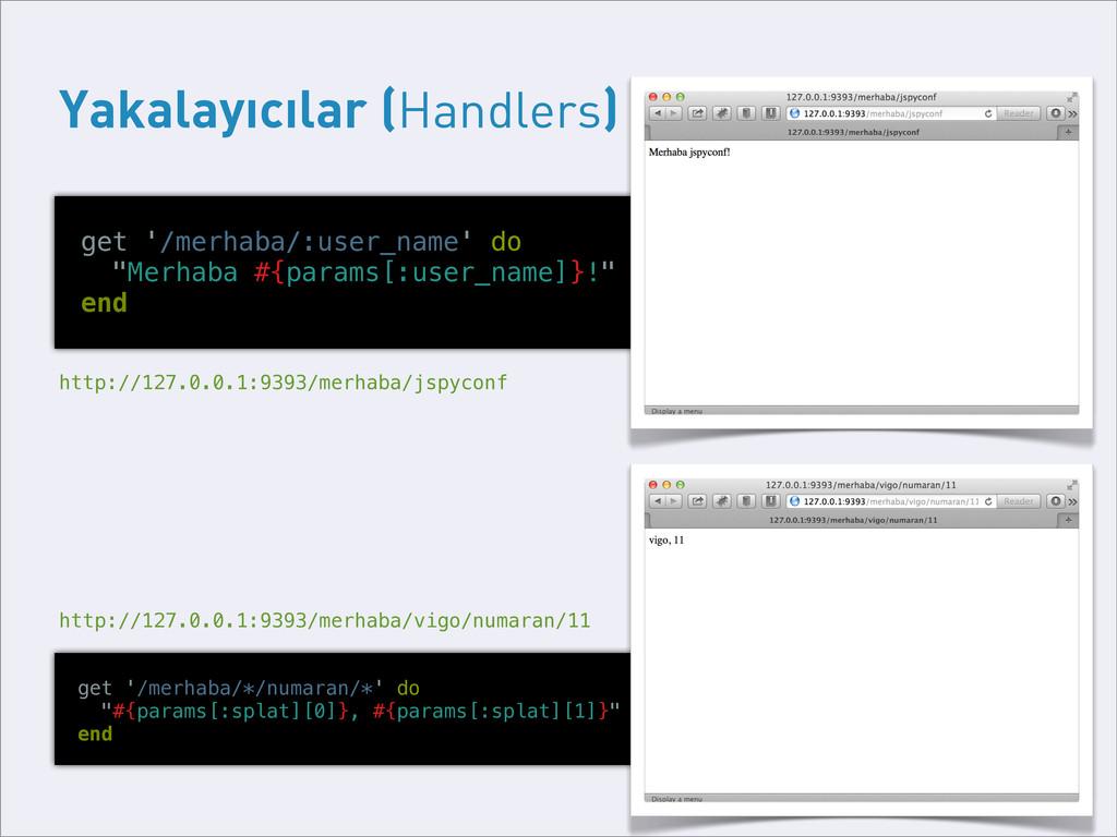 Yakalayıcılar (Handlers) get '/merhaba/:user_na...
