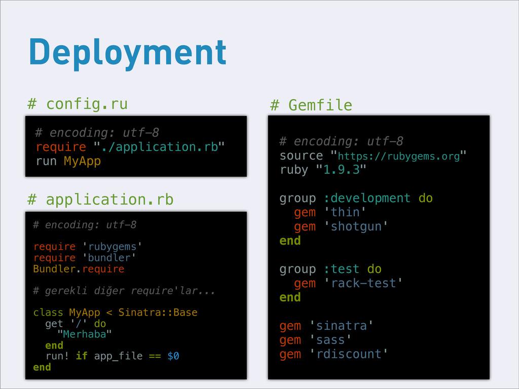 Deployment # config.ru # application.rb # encod...