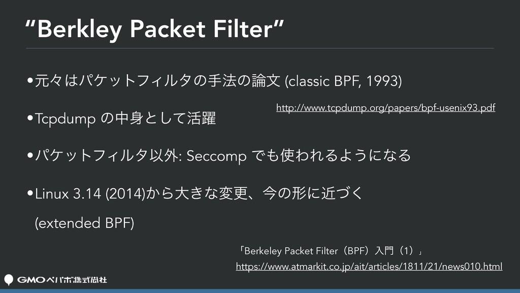 """Berkley Packet Filter"" •ݩʑύέοτϑΟϧλͷख๏ͷจ (cla..."