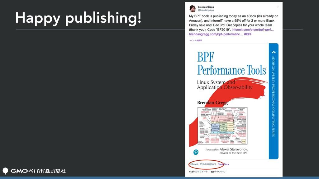 Happy publishing!