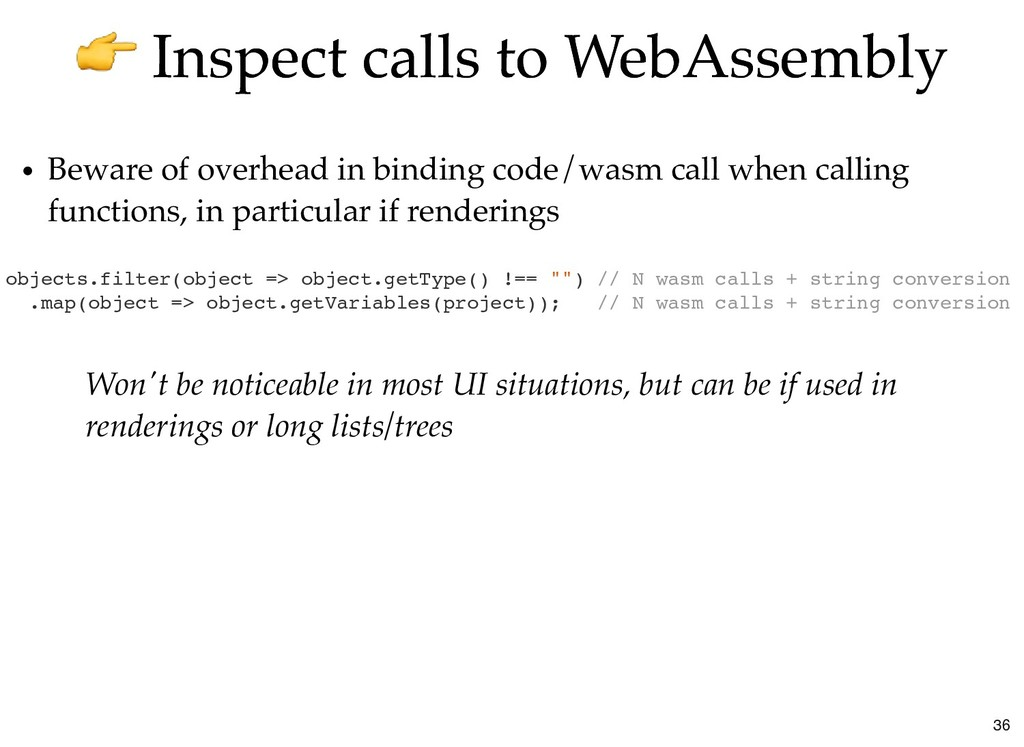 Inspect calls to WebAssembly Inspect calls to W...