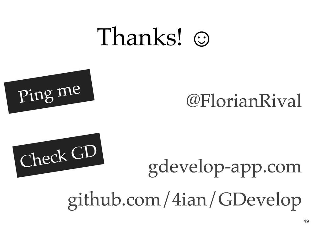 Thanks! ☺ Thanks! ☺ @FlorianRival @FlorianRival...