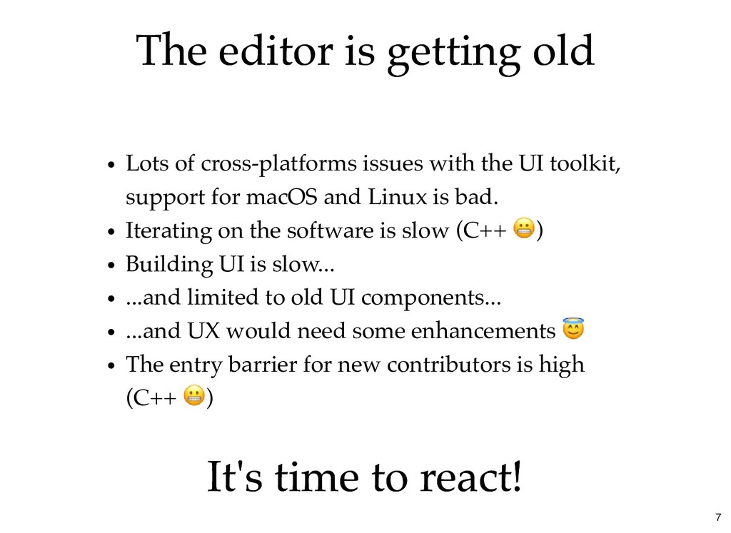 The editor is getting old The editor is getting...