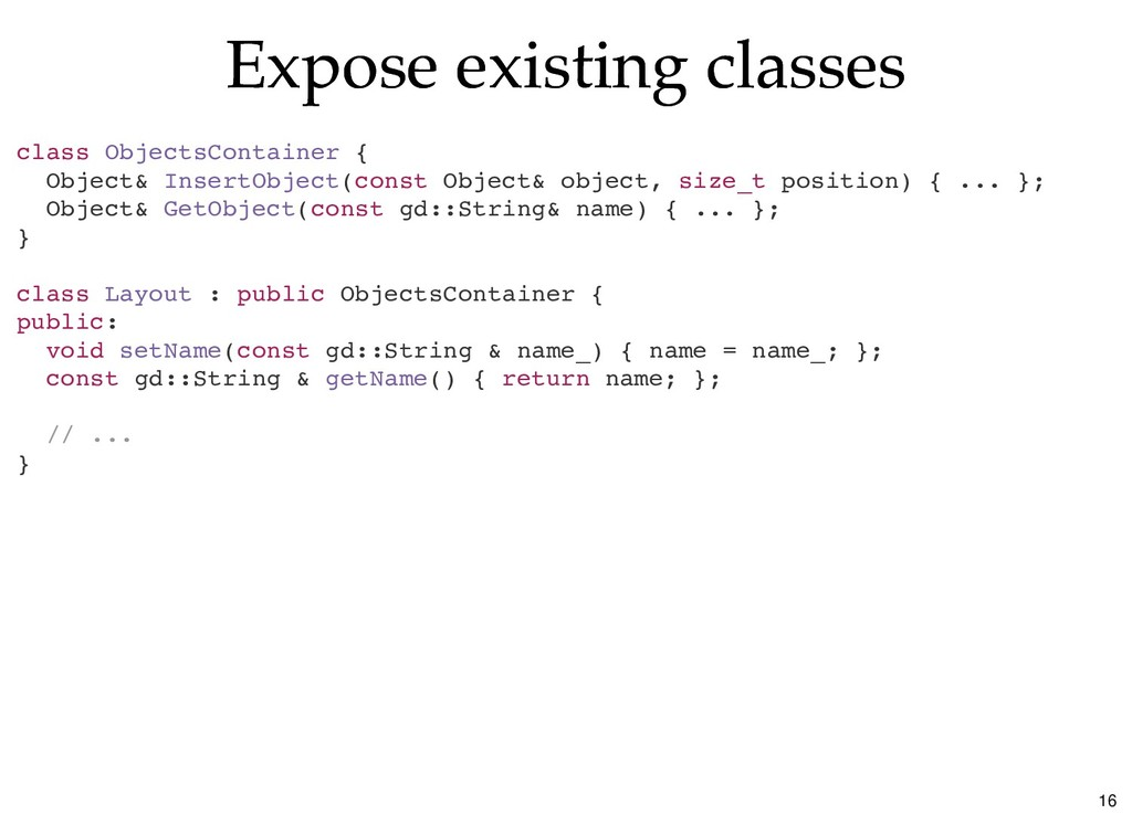 Expose existing classes Expose existing classes...