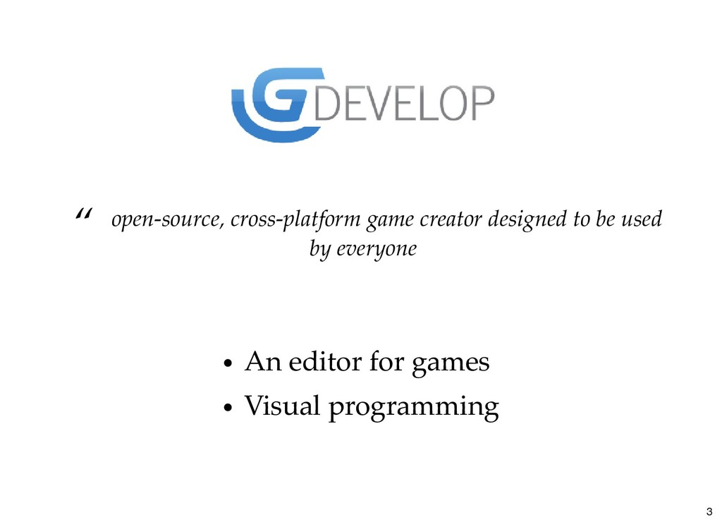 """ open-source, cross-platform game creator desi..."