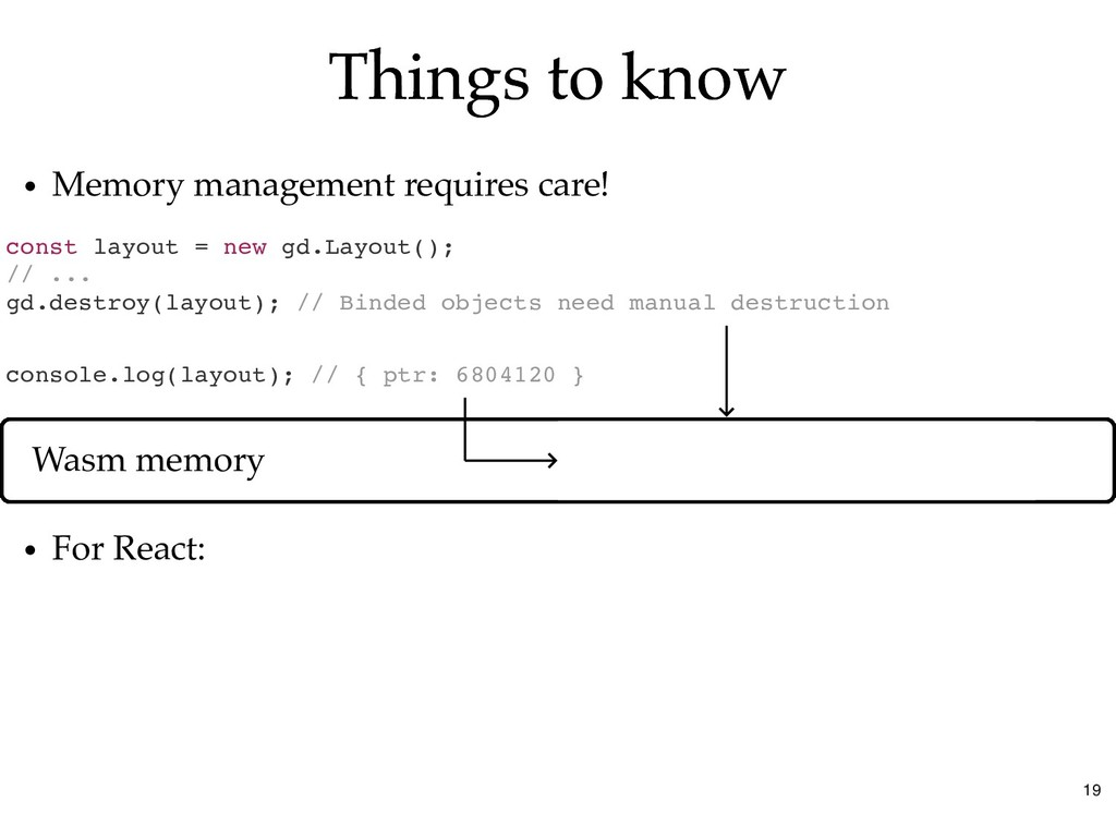 Things to know Things to know const layout = ne...