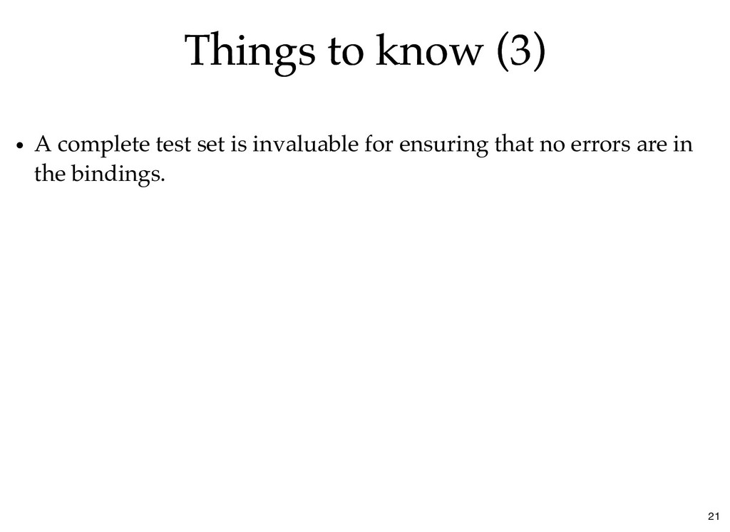 Things to know (3) Things to know (3) A complet...
