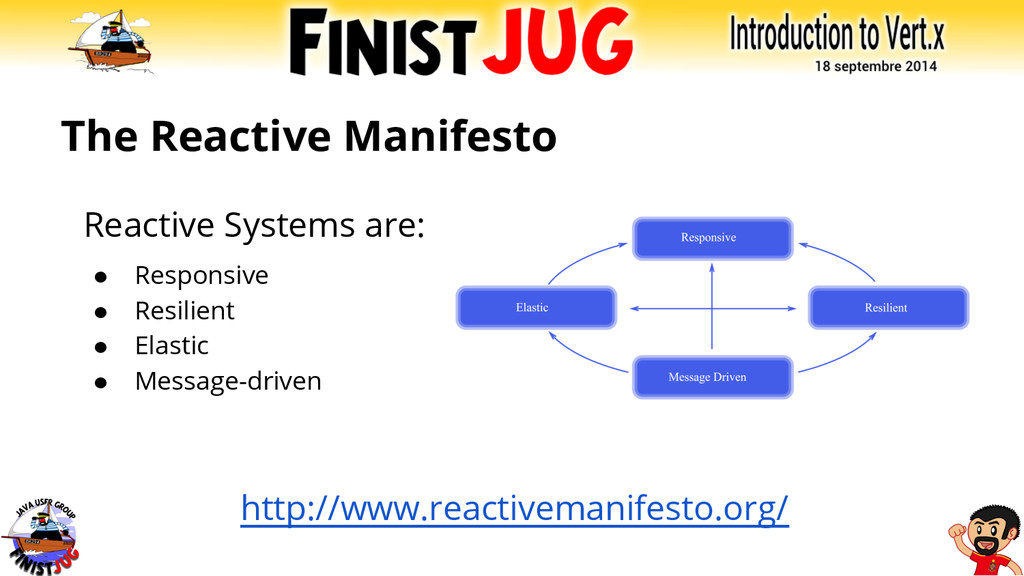 The Reactive Manifesto Reactive Systems are: ● ...