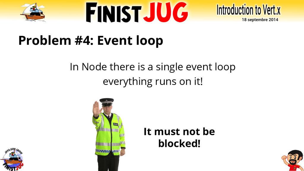 Problem #4: Event loop In Node there is a singl...