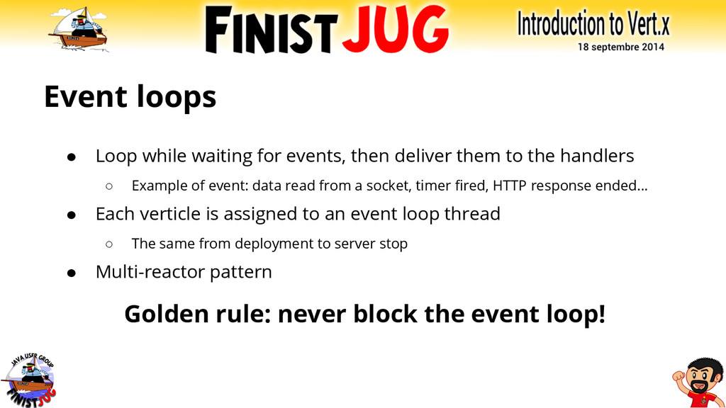 Event loops ● Loop while waiting for events, th...