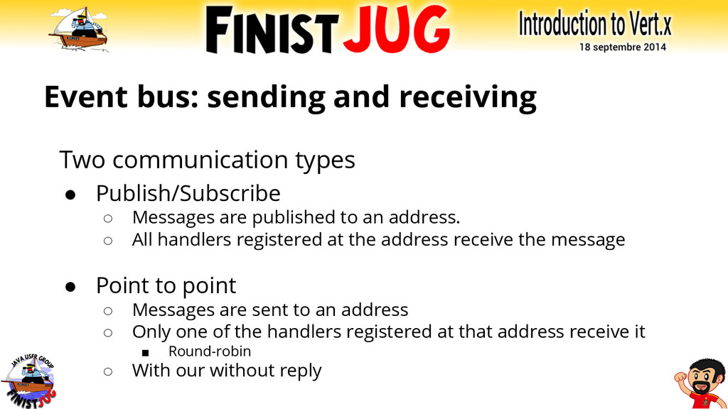 Event bus: sending and receiving Two communicat...