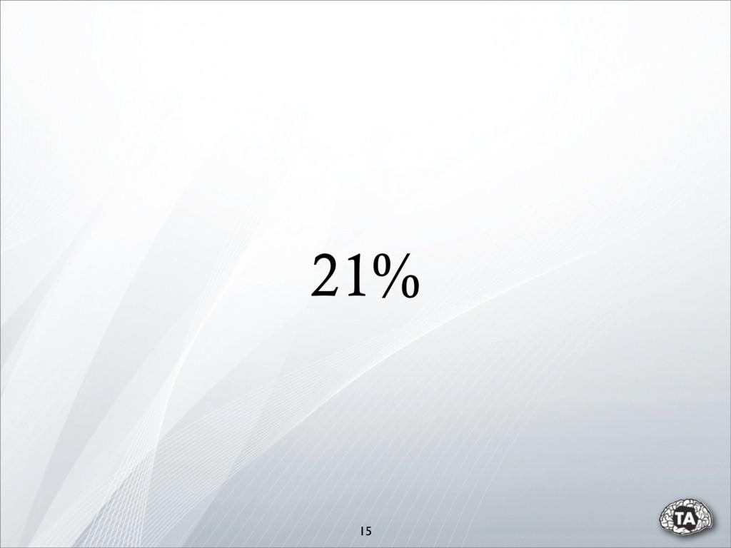 21% 15
