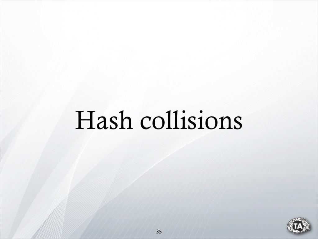 Hash collisions 35